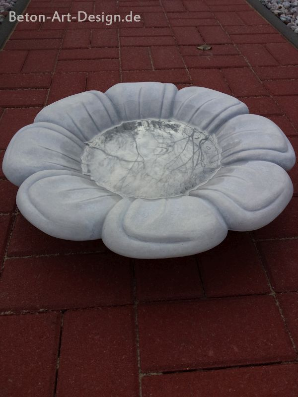 vogeltr nke blume bad kp0319 steinguss beton art design gartenfigur ebay. Black Bedroom Furniture Sets. Home Design Ideas
