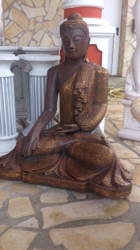 feng shui asien garten figur skulptur buddha xxl steinbuddha 101cm 32 ebay. Black Bedroom Furniture Sets. Home Design Ideas