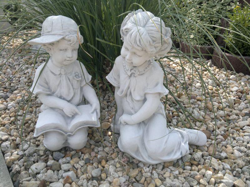gartenfiguren junge und m dchen skulpturen steinguss 48