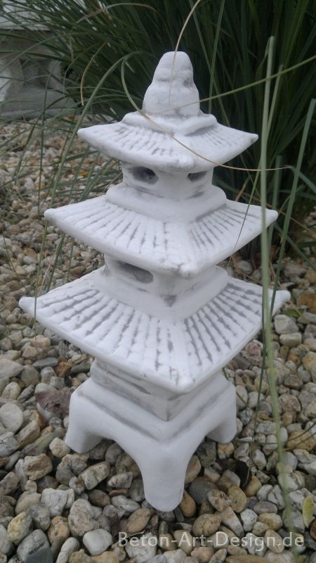 feng shui gartenfigur skulptur japan lampe 45 cm steinguss pagode gartendeko ebay. Black Bedroom Furniture Sets. Home Design Ideas