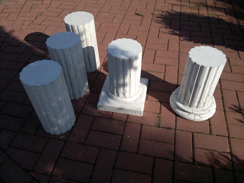 5 teilige s ule 200 cm steinguss betons ule steins ule. Black Bedroom Furniture Sets. Home Design Ideas