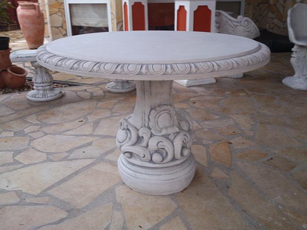 Steintisch, Gartentisch In Runder Form Im Barockstil, Park U0026  Gartendekoration, Betonmöbel, Steinguss